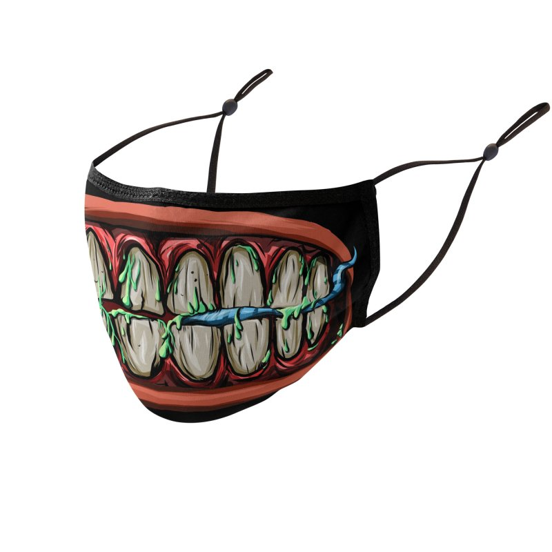 Teeth and Bugs Mask Accessories Face Mask by Yaky's Customs