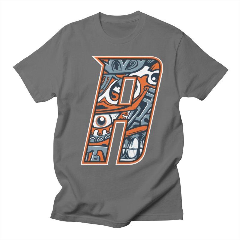 Crazy Face Alphabet (A) Men's T-Shirt by Yaky's Customs
