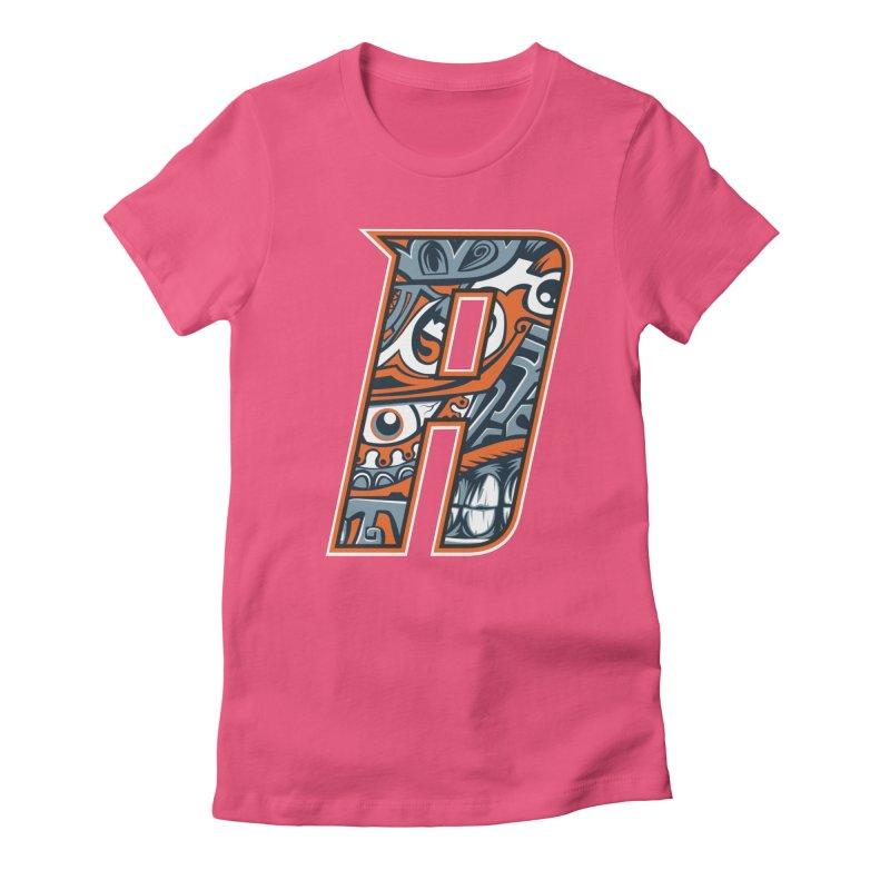 Crazy Face Alphabet (A) Women's T-Shirt by Yaky's Customs