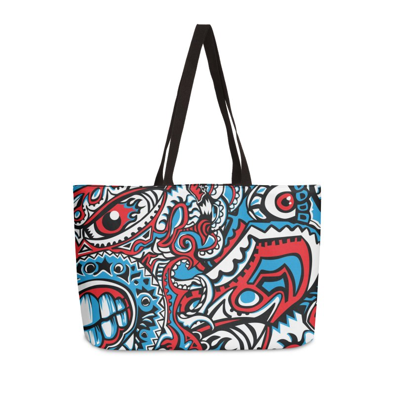 Indigenous Faces_The Patron of War Accessories Bag by Yaky's Customs