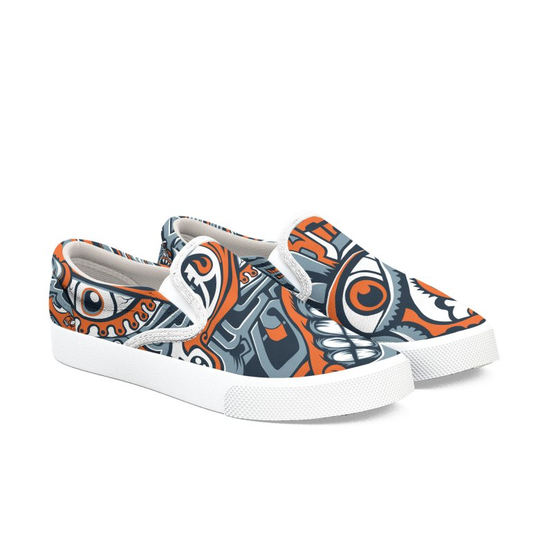 IFC_Design_B Men's Slip-On Shoes by Art of Yaky Artist Shop