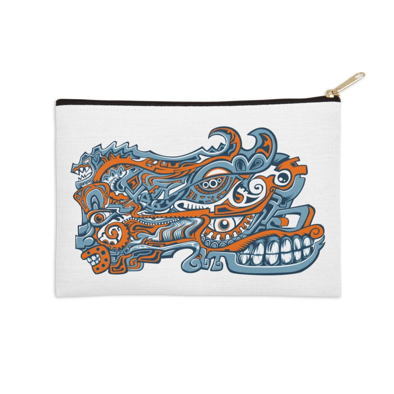 Indigenous Faces_Rain and Storms Accessories Zip Pouch by Yaky's Customs