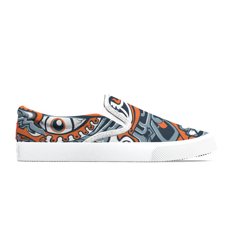 Indigenous Faces_Rain and Storms Men's Shoes by Yaky's Customs