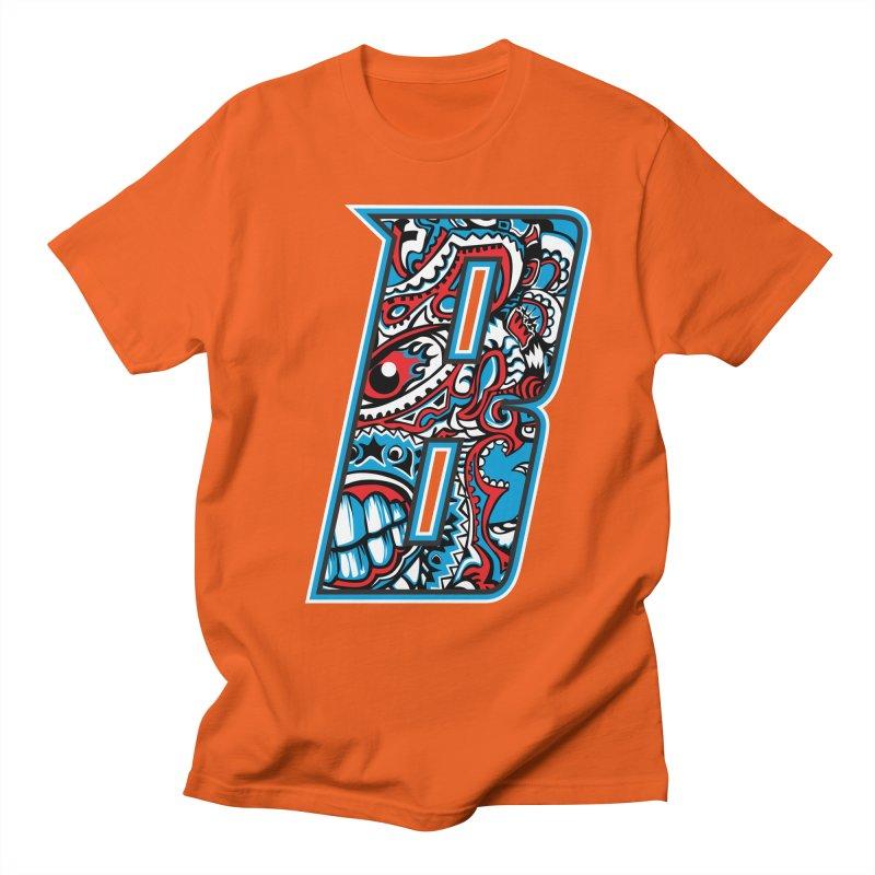 Crazy Face Alphabet (B) Men's T-Shirt by Yaky's Customs