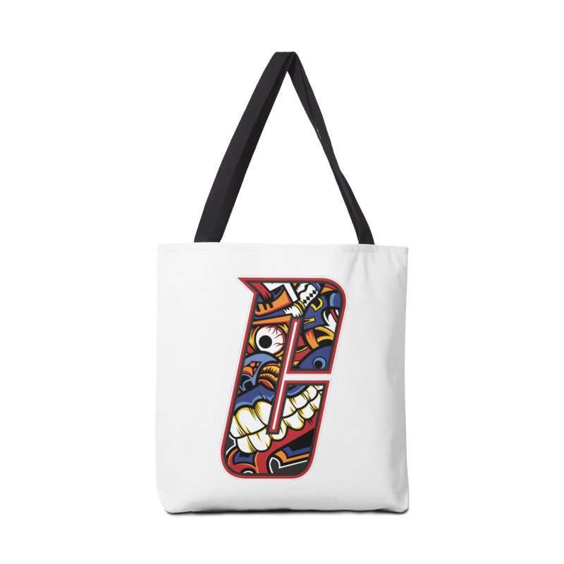 Crazy Face_C003 in Tote Bag by Art of Yaky Artist Shop