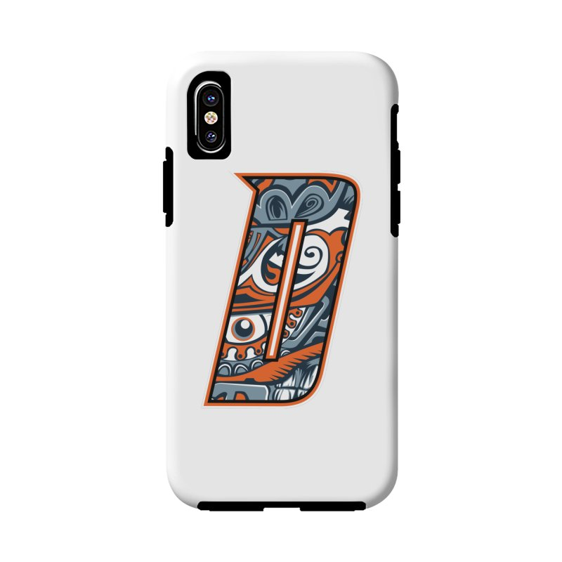 Crazy Face_D002 in iPhone X / XS Phone Case Tough by Art of Yaky Artist Shop