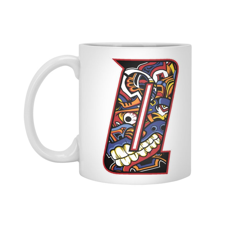Crazy Face_Q003 Accessories Standard Mug by Art of Yaky Artist Shop