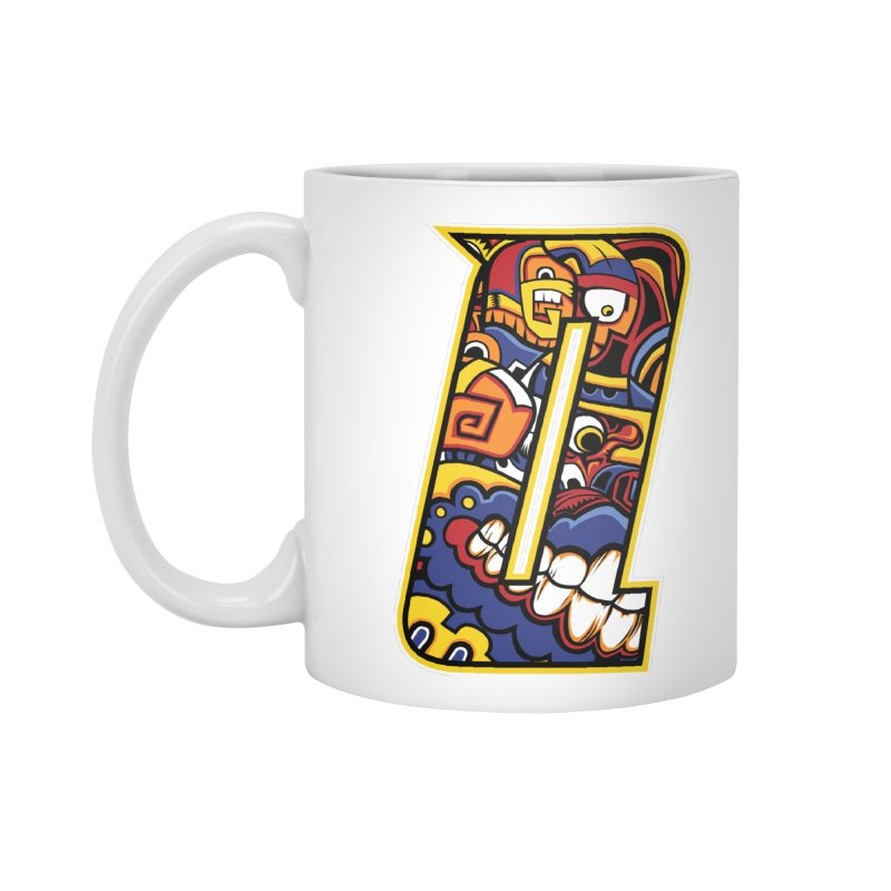 Crazy Face_Q004 Accessories Standard Mug by Art of Yaky Artist Shop