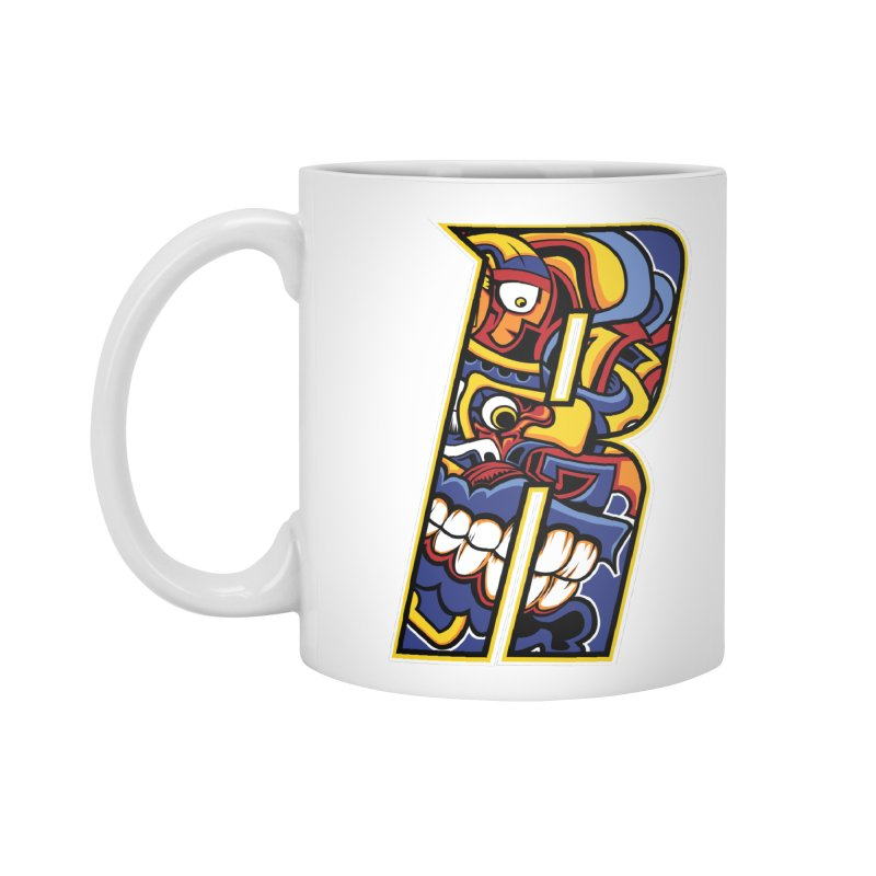 Crazy Face_R003 Accessories Standard Mug by Art of Yaky Artist Shop
