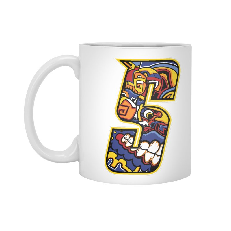 Crazy Face_S004 Accessories Standard Mug by Art of Yaky Artist Shop