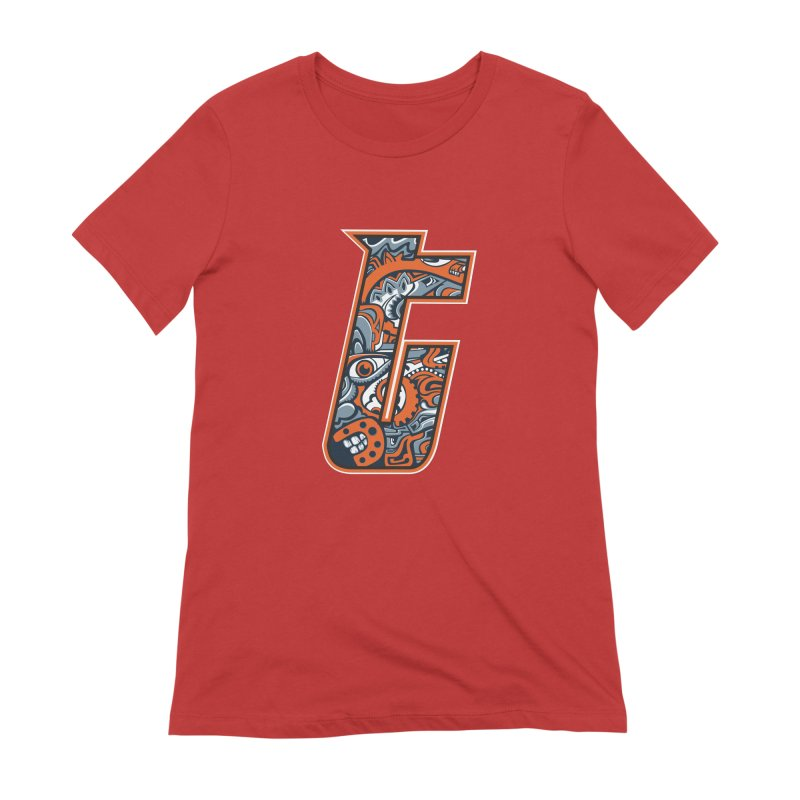 Crazy Face_T002 Women's Extra Soft T-Shirt by Art of Yaky Artist Shop