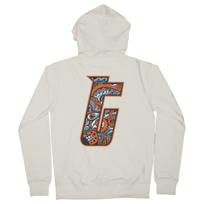 Crazy Face_T002 Men's French Terry Zip-Up Hoody by Art of Yaky Artist Shop