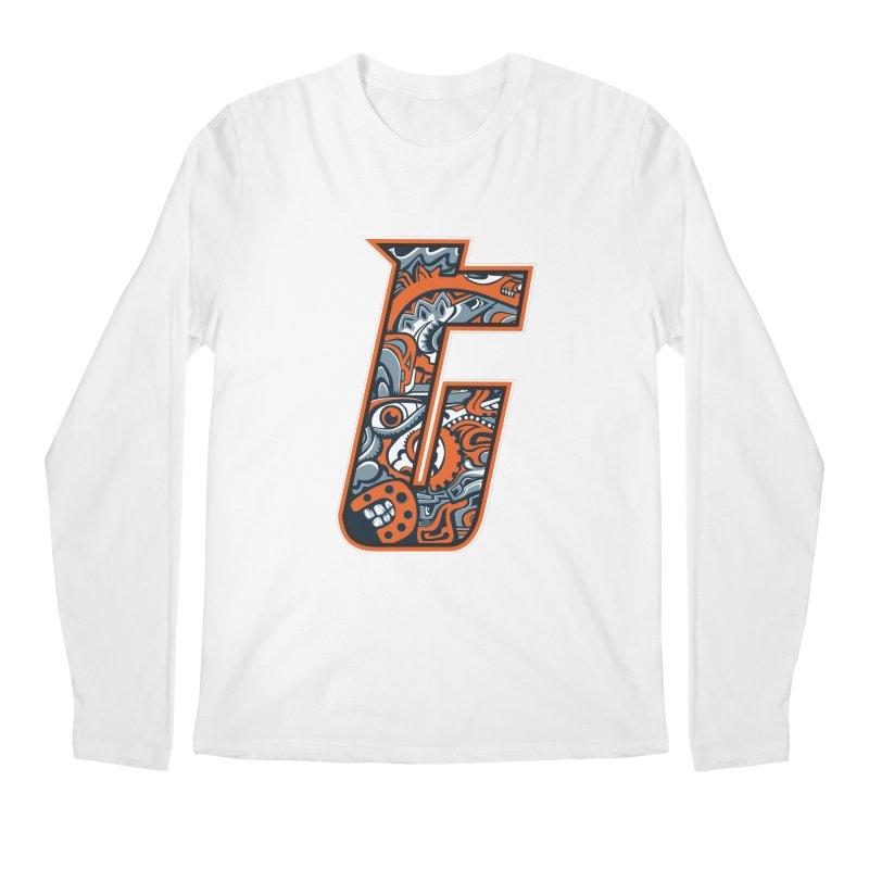 Crazy Face_T002 Men's Regular Longsleeve T-Shirt by Art of Yaky Artist Shop