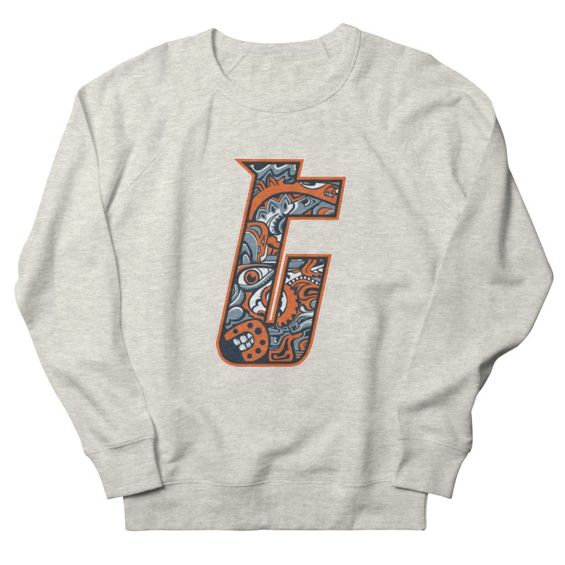 Crazy Face_T002 Women's French Terry Sweatshirt by Art of Yaky Artist Shop