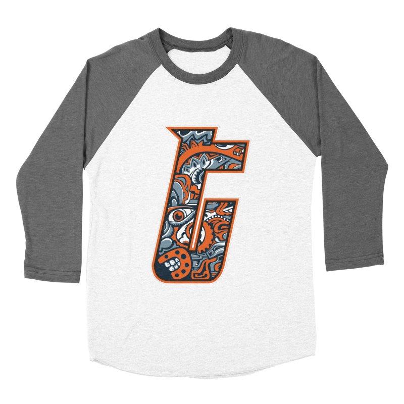 Crazy Face_T002 Women's Baseball Triblend Longsleeve T-Shirt by Art of Yaky Artist Shop