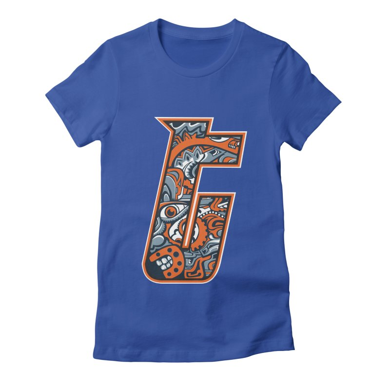 Crazy Face_T002 Women's Fitted T-Shirt by Art of Yaky Artist Shop