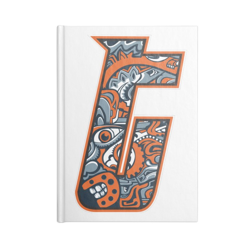 Crazy Face_T002 Accessories Blank Journal Notebook by Art of Yaky Artist Shop