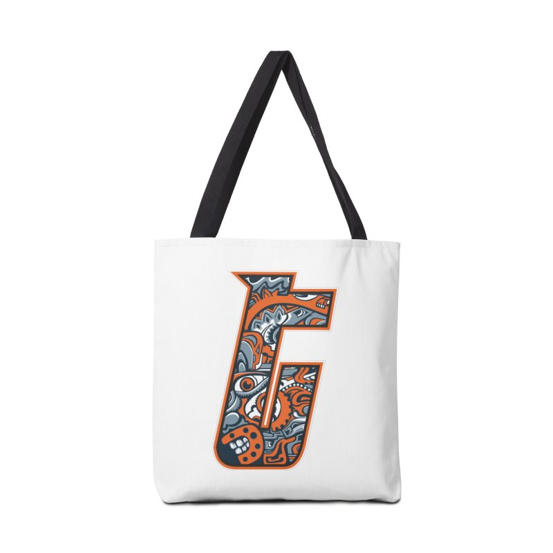 Crazy Face_T002 Accessories Tote Bag Bag by Art of Yaky Artist Shop