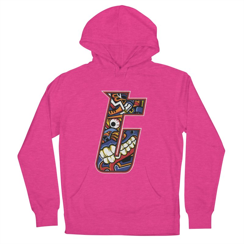 Crazy Face_T003 Women's French Terry Pullover Hoody by Art of Yaky Artist Shop