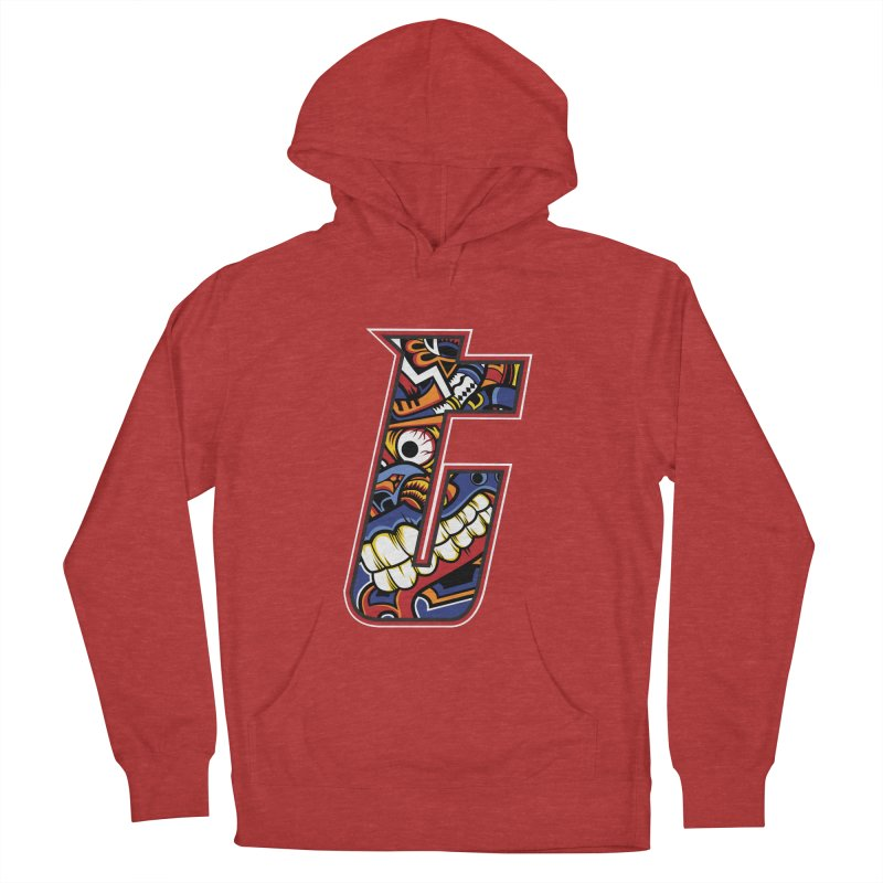 Crazy Face_T003 Men's French Terry Pullover Hoody by Art of Yaky Artist Shop