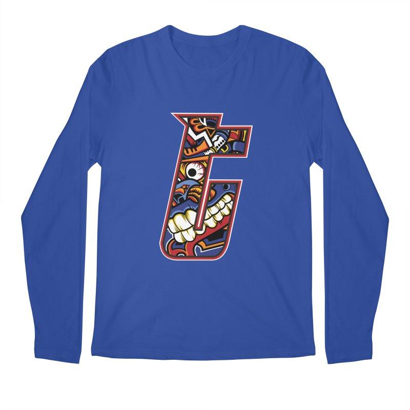Crazy Face_T003 Men's Regular Longsleeve T-Shirt by Art of Yaky Artist Shop