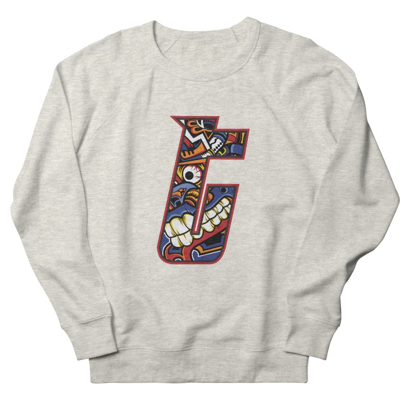 Crazy Face_T003 Men's French Terry Sweatshirt by Art of Yaky Artist Shop
