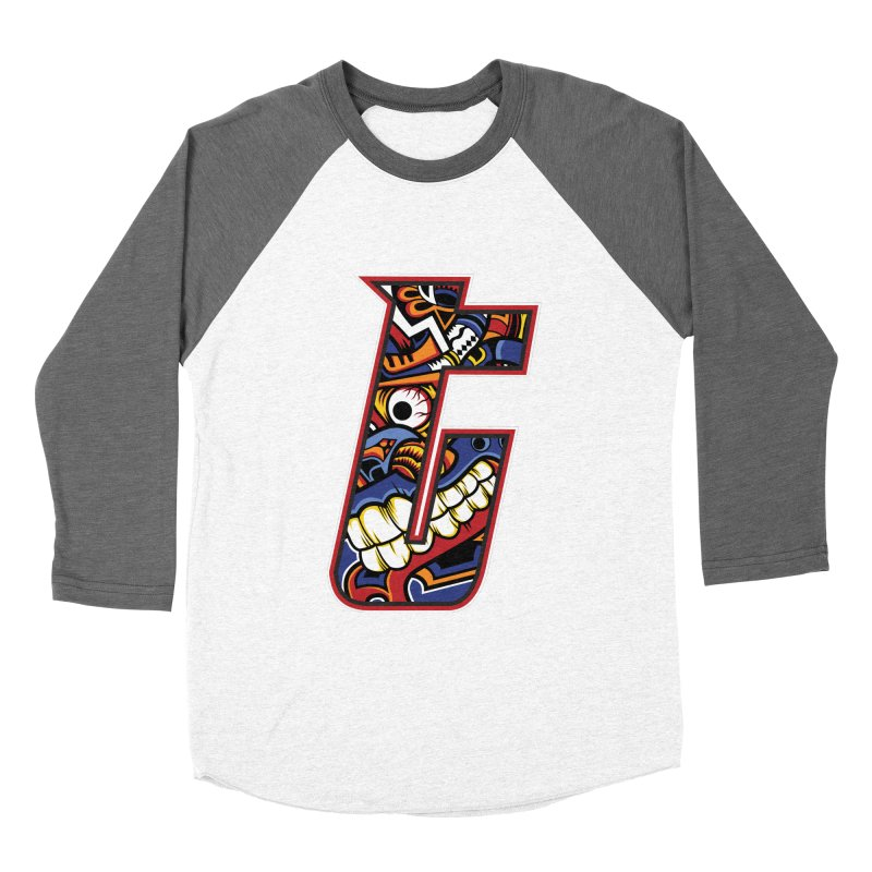 Crazy Face_T003 Women's Baseball Triblend Longsleeve T-Shirt by Art of Yaky Artist Shop