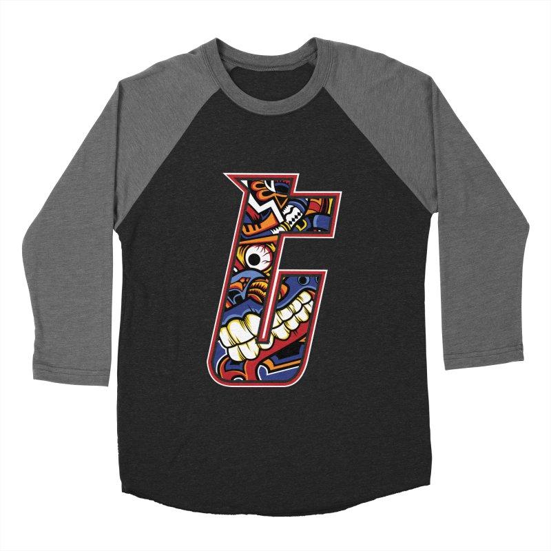 Crazy Face_T003 Women's Baseball Triblend Longsleeve T-Shirt by Art of Yaky Artist Shop
