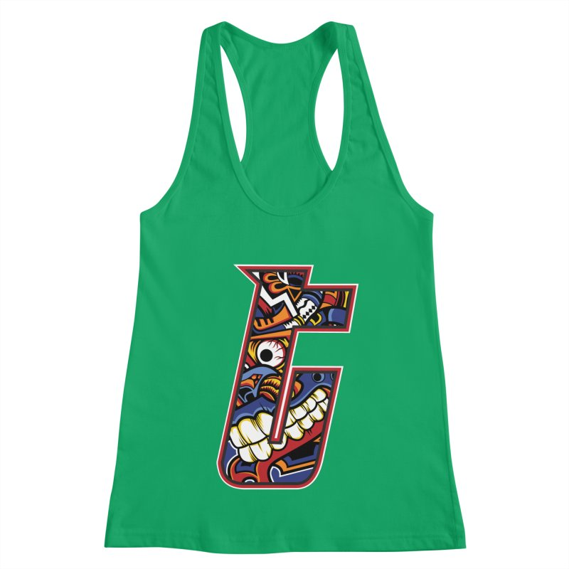 Crazy Face_T003 Women's Tank by Art of Yaky Artist Shop