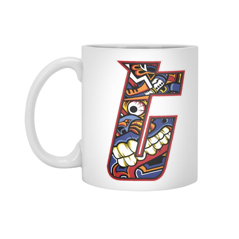 Crazy Face_T003 Accessories Standard Mug by Art of Yaky Artist Shop