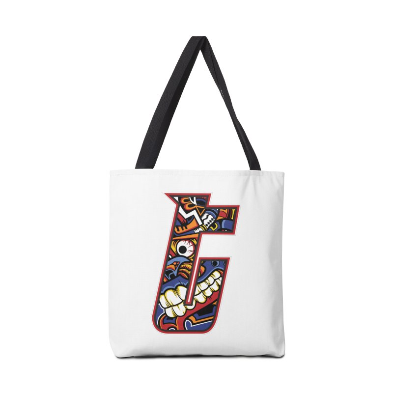 Crazy Face_T003 Accessories Tote Bag Bag by Art of Yaky Artist Shop