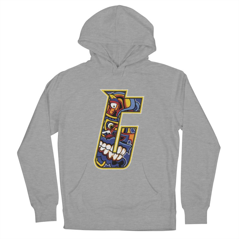 Crazy Face_T004 Women's French Terry Pullover Hoody by Art of Yaky Artist Shop