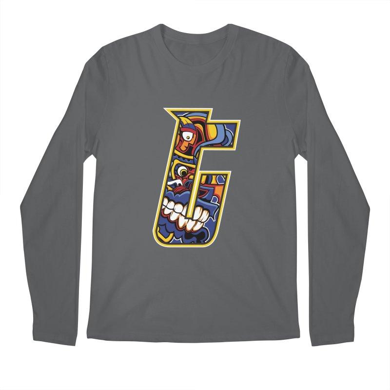 Crazy Face_T004 Men's Regular Longsleeve T-Shirt by Art of Yaky Artist Shop