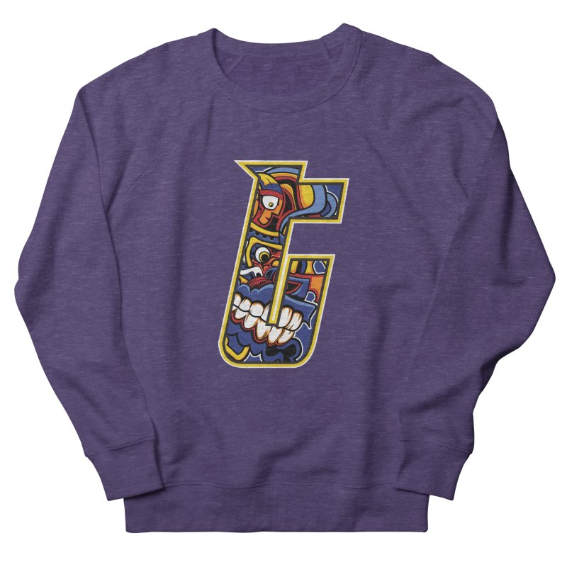 Crazy Face_T004 Women's French Terry Sweatshirt by Art of Yaky Artist Shop