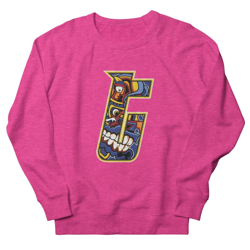 Crazy Face_T004 Men's French Terry Sweatshirt by Art of Yaky Artist Shop