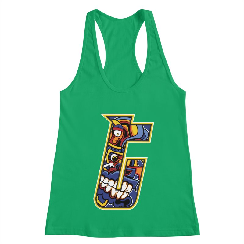 Crazy Face_T004 Women's Tank by Art of Yaky Artist Shop