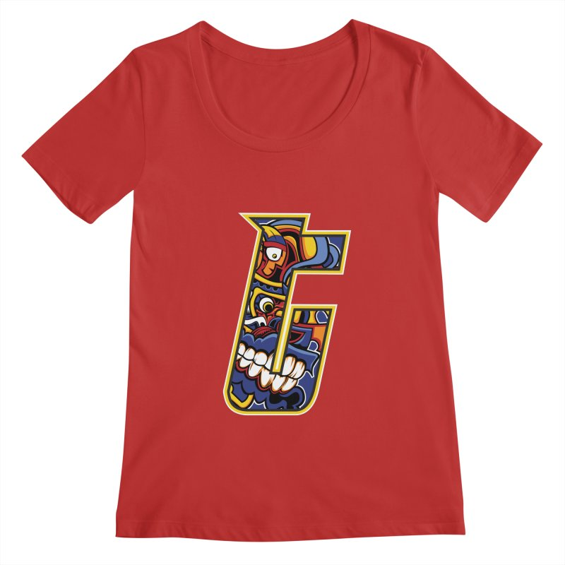 Crazy Face_T004 Women's Regular Scoop Neck by Art of Yaky Artist Shop