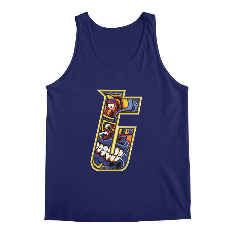 Crazy Face_T004 Men's Regular Tank by Art of Yaky Artist Shop