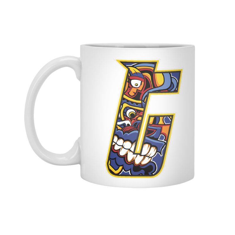 Crazy Face_T004 Accessories Standard Mug by Art of Yaky Artist Shop