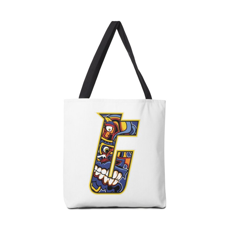 Crazy Face_T004 Accessories Tote Bag Bag by Art of Yaky Artist Shop