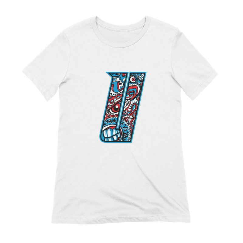 Crazy Face_U001 Women's Extra Soft T-Shirt by Art of Yaky Artist Shop