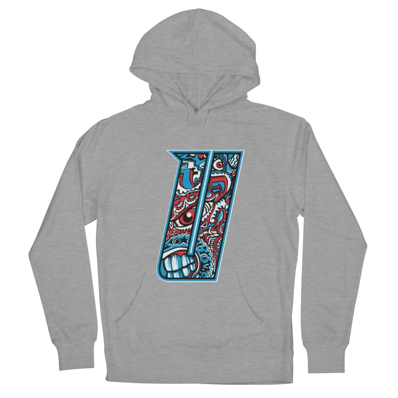 Crazy Face_U001 Women's French Terry Pullover Hoody by Art of Yaky Artist Shop