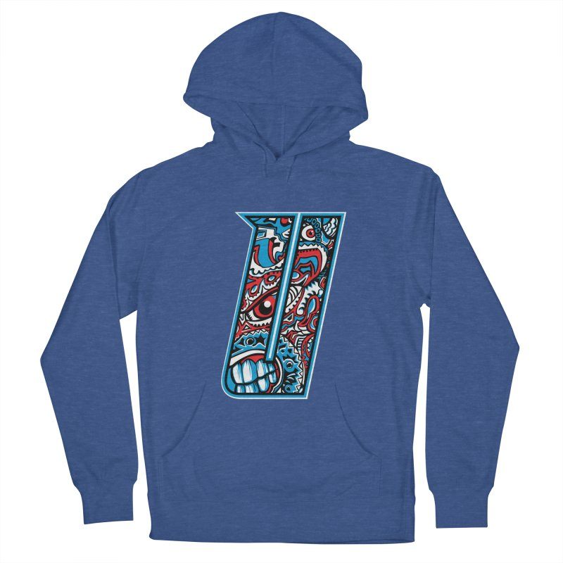 Crazy Face_U001 Men's French Terry Pullover Hoody by Art of Yaky Artist Shop