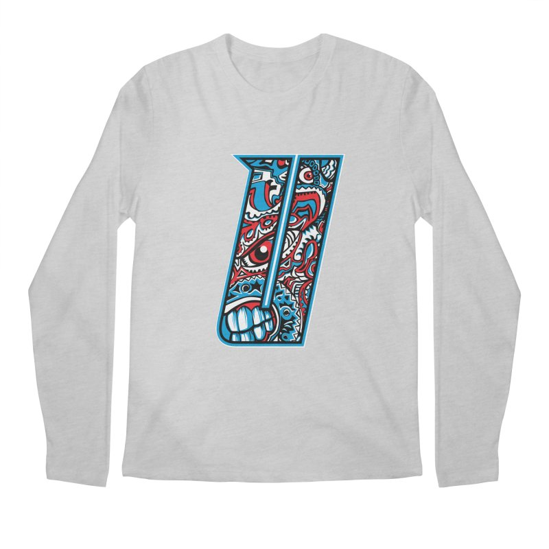 Crazy Face_U001 Men's Regular Longsleeve T-Shirt by Art of Yaky Artist Shop