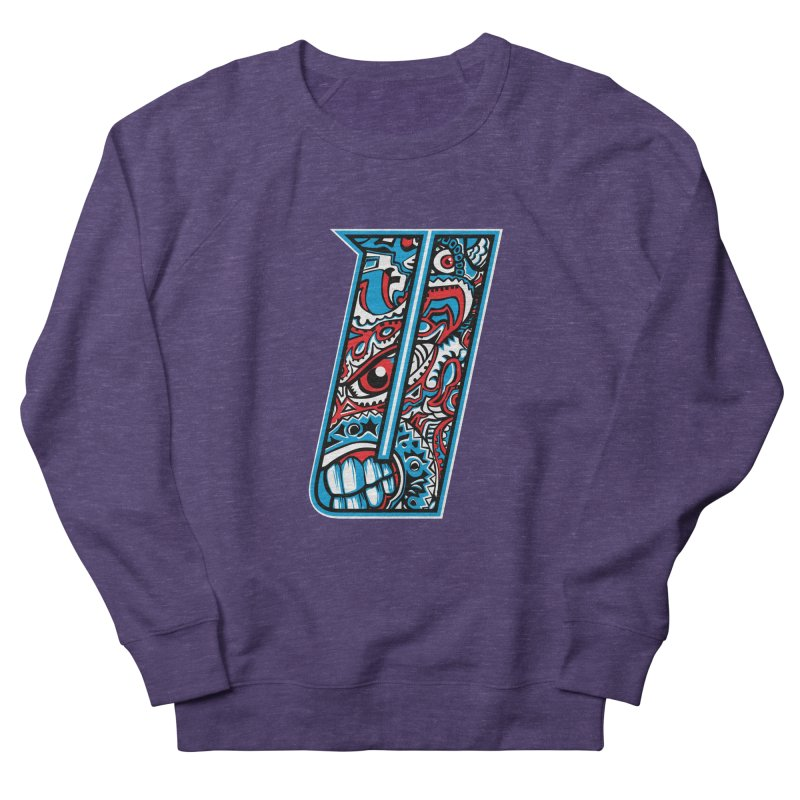 Crazy Face_U001 Women's French Terry Sweatshirt by Art of Yaky Artist Shop