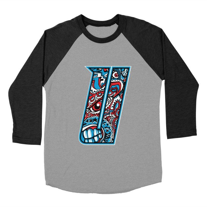 Crazy Face_U001 Women's Baseball Triblend Longsleeve T-Shirt by Art of Yaky Artist Shop