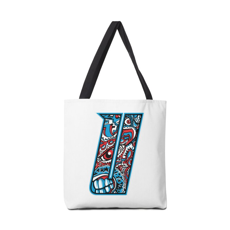 Crazy Face_U001 Accessories Tote Bag Bag by Art of Yaky Artist Shop