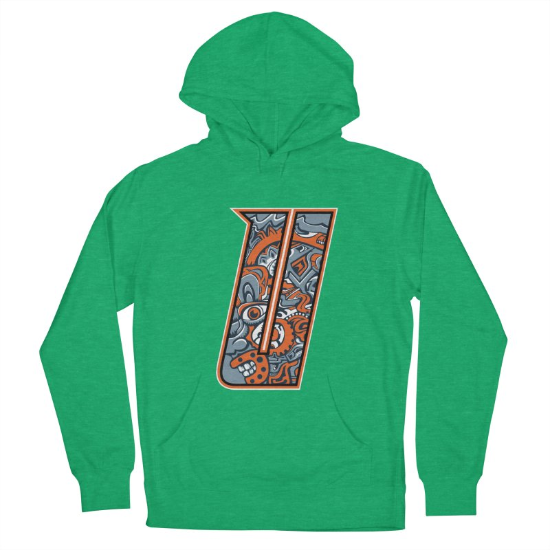 Crazy Face_U002 Women's French Terry Pullover Hoody by Art of Yaky Artist Shop