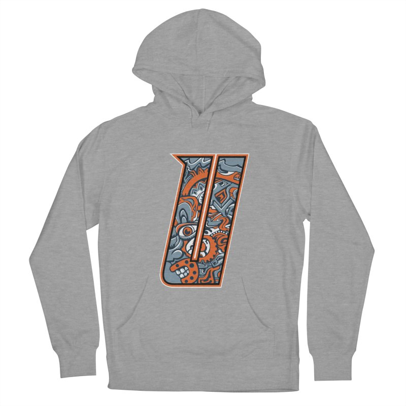 Crazy Face_U002 Men's French Terry Pullover Hoody by Art of Yaky Artist Shop
