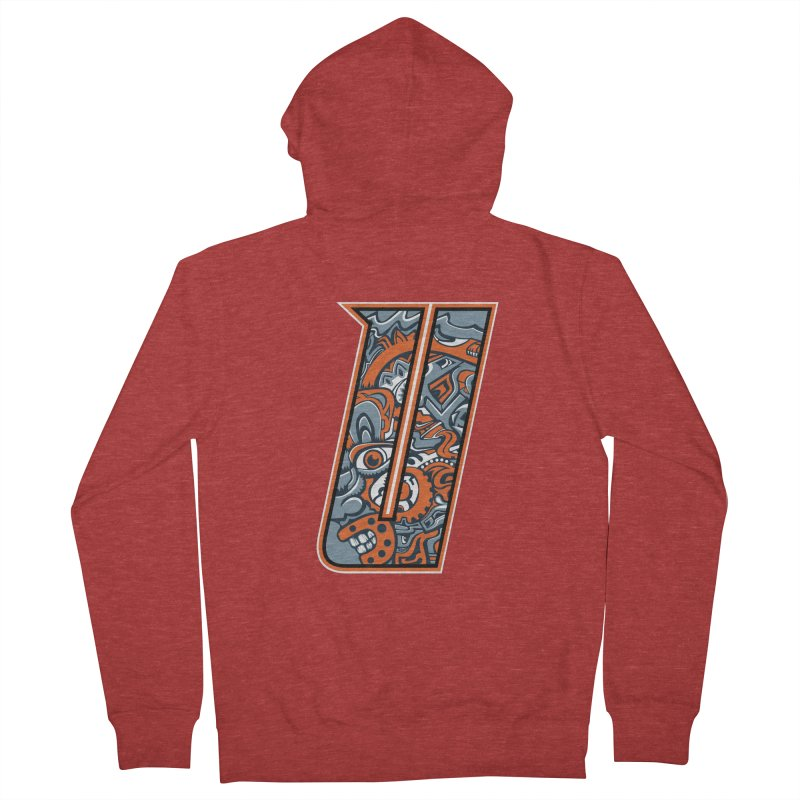 Crazy Face_U002 Women's French Terry Zip-Up Hoody by Art of Yaky Artist Shop